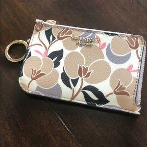 Kate Spade Cameron Breezy Floral ZIP Card Wallet
